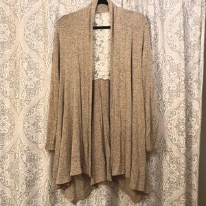 Sweaters - Tan cardigan